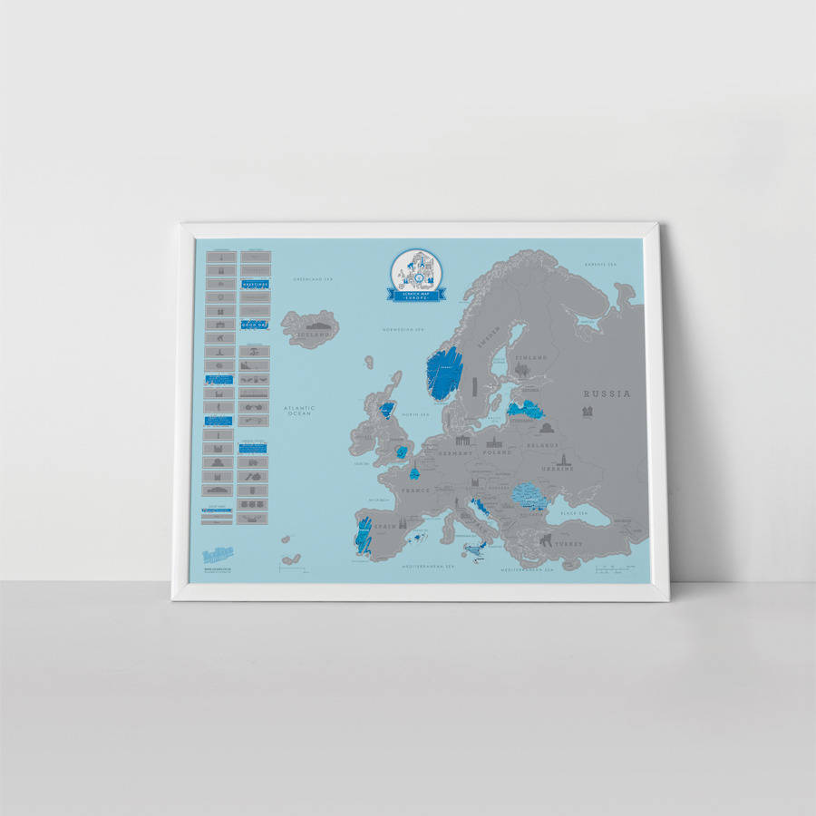 Map Of Wurope%0A Scratch Map   Europe