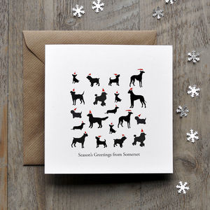 Dog Breeds Personalised Christmas Card - cards