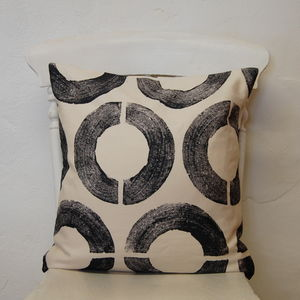 Large Square Broken Circles Cushion - living room
