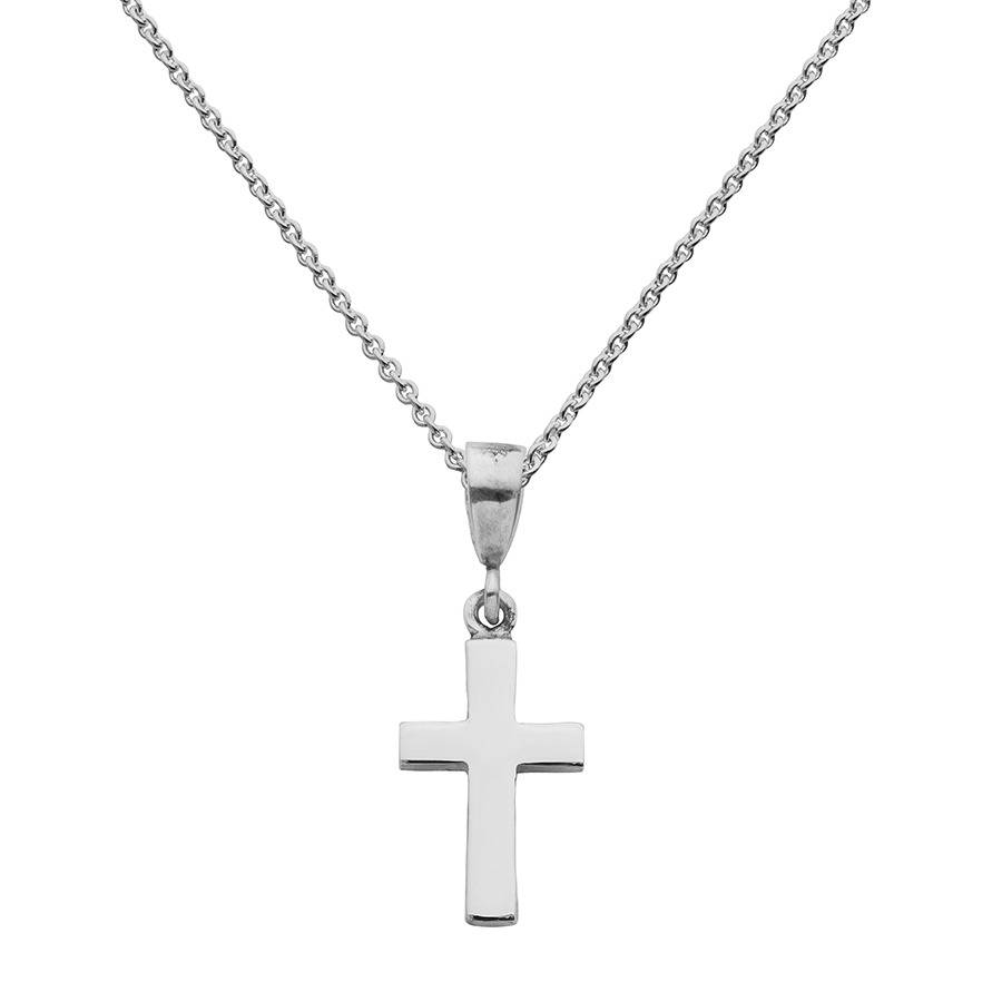 personalised solid silver cross necklace by hersey. Black Bedroom Furniture Sets. Home Design Ideas