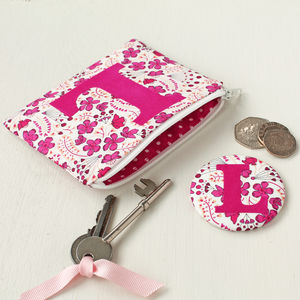 Initial Coin Purse And Mirror - gifts for her