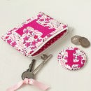 Liberty Print Personalised Purse And Mirror Gift