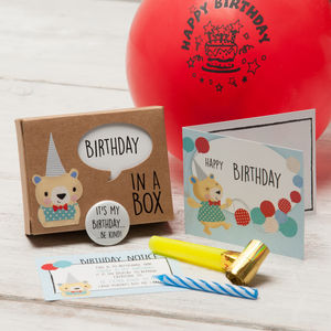 'Birthday In A Box' - birthday gifts for children
