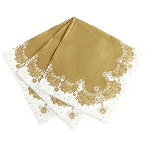 Gold Decorative Party Napkins - tableware
