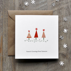 Christmas Trees Personalised Card