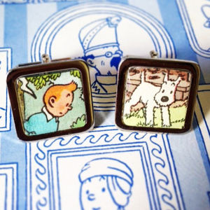 Personalised Comic Character Square Cufflinks - men's accessories