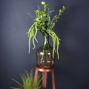 Artificial Eucalyptus And Amaranthus Arrangement