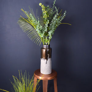 Artificial Eucalyptus And Palm Leaf Arrangement - flowers & plants