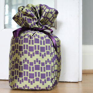 Purple And Gold Silk Doorstop - office & study