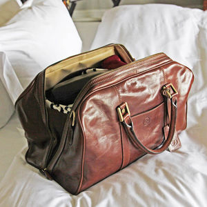 The Finest Italian Leather Holdall For Men. 'The Flero' - shop by category