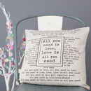 'All You Need Is Love' Cushion Cover