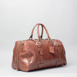 The Finest Italian Leather Cabin Luggage. 'The Flero M' - holdalls & weekend bags