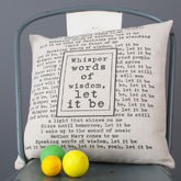 Personalised Lyrics Cushion Cover - anniversary gifts