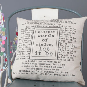 'Let It Be' Cushion Cover