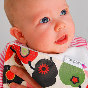 Handmade Baby Burp Cloths - bibs