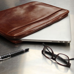 Luxury Italian Leather Laptop Case For Macbook - gifts for him