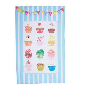 Cupcake Flavours Tea Towel - tea towels