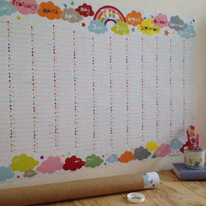 2016 Large Rainbow Wall Planner - posters & prints