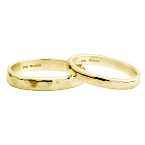 Create Your Own 9ct Yellow Gold D Shape Wedding Band - rings