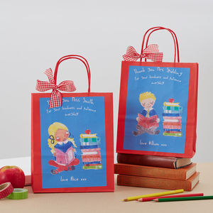 Personalised Teacher Gift Bag