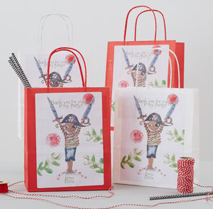 Pirate Captain Personalised Party Bag - ribbon & wrap