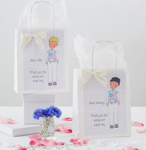 Personalised Page Boy Gift Bag - ribbon & wrap