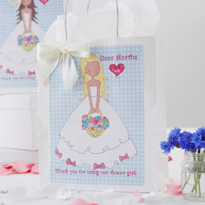 Personalised Flower Girl Gift Bag - ribbon & wrap