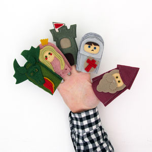 Handmade Felt Fairytale Princess Finger Puppets - gifts for children