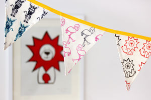Safari Bunting, Hand Screen Printed
