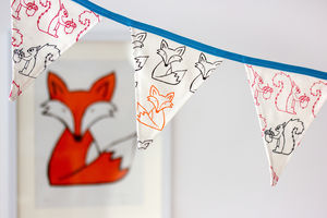 Woodland Bunting, Hand Screen Printed