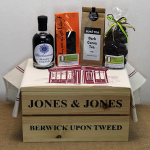 Chocolate Tea And A Tipple Hamper - food gifts