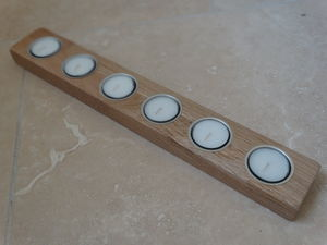 Natural Oak Tea Light Holders - candles & candlesticks