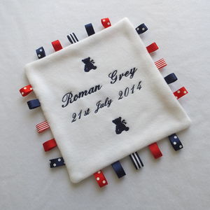 Personalised Embroidered Comfort Blanket - blankets, comforters & throws