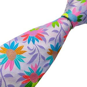 Brightly Coloured Floral Silk Tie