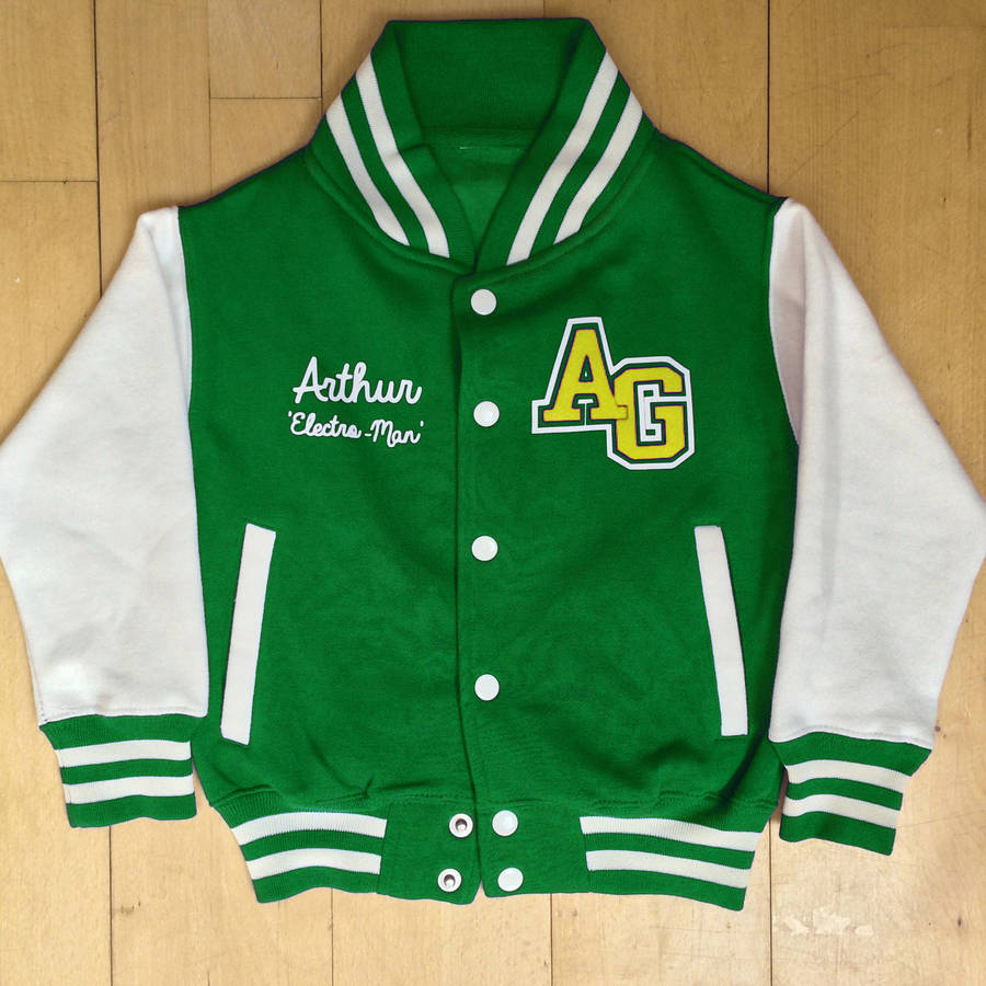 personalised baseball jacket by pop-up | notonthehighstreet.com