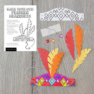 Make Your Own Wild West Headdress Kit - gifts for children