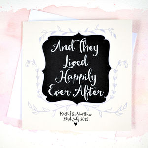 Personalised 'Happily Every After' Wedding Card - shop by category
