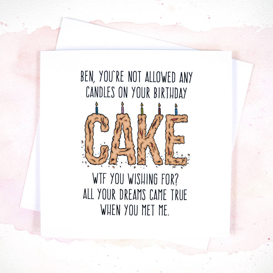 funny boyfriend or girlfriend birthday card by philly brit – Birthday Cards Boyfriend