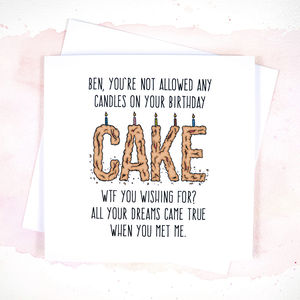 Funny Boyfriend Or Girlfriend Birthday Card - funny cards