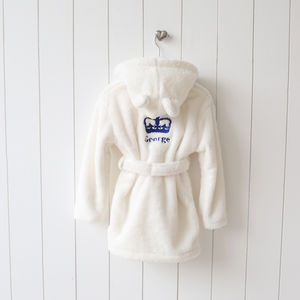 Personalised Royal Crown Robe - bathtime