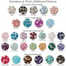 Pearls & Swarovski Crystal Gem options