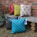 Oily Rag Spotty Waterproof Cushion