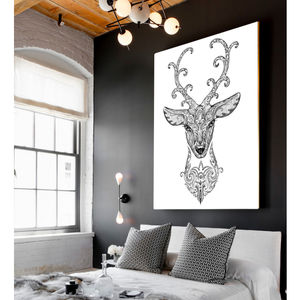 Queeny The Stag, Canvas Art - contemporary art
