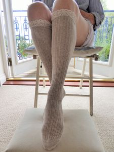 Lace Trim Women's Long Socks - women's fashion sale
