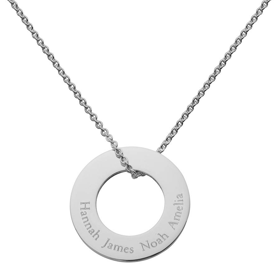 Personalised silver circle of life necklace by hersey silversmiths personalised silver circle of life necklace aloadofball Image collections