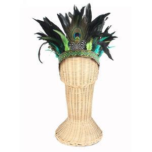 Montezuma Aztec Style Feather Headdress - fancy dress