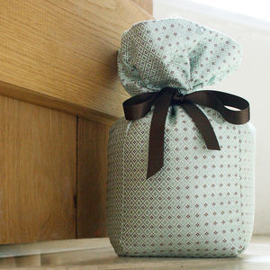 Brown And Mint Silk Doorstop - office & study