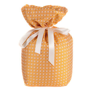 Gold And Peach Silk Doorstop