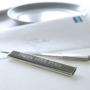 Personalised Silver Letter Opener - birthday gifts