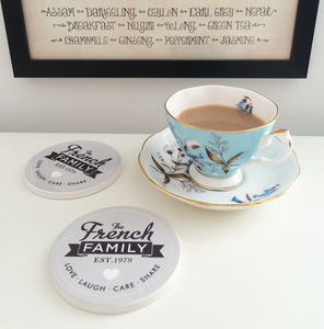 Personalised Family Coasters